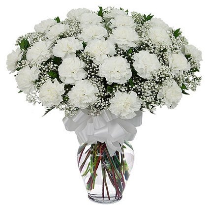 Bouquet of White Carnations