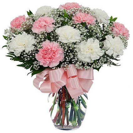 Carnation Arrangements in Vase