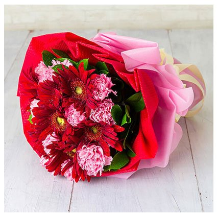Carnation and Gerbera Bouquet
