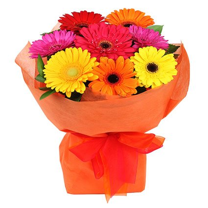 Colored Gerberas Bouquet