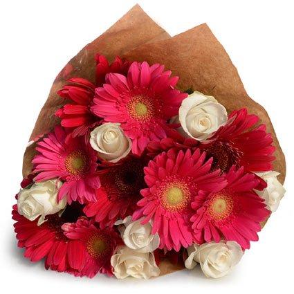 Gerbera and Rose Bouquet