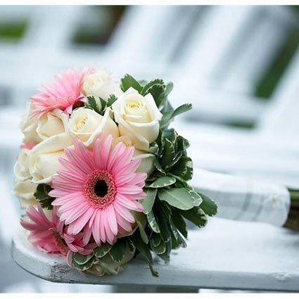 Gerbera and Rose Wedding Bouquet