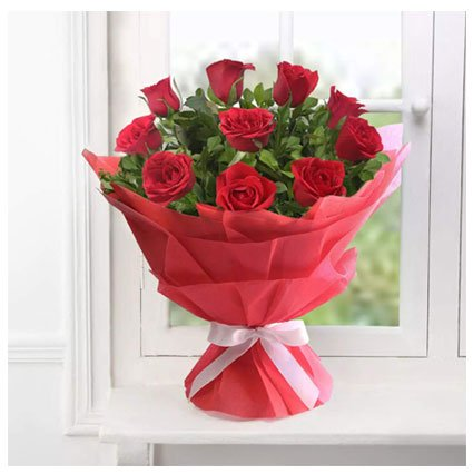 Red Rose Flower Bouquet