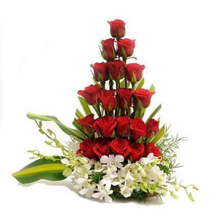 Basket Bouquet of Flowers