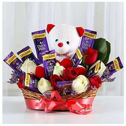 Chocolate Basket Bouquet