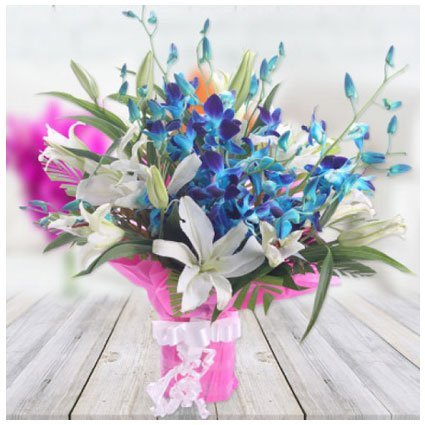 Lilies and Orchids Bouquet