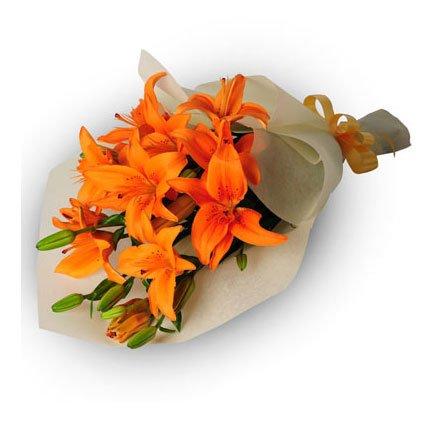 Orange Tiger Lily Bouquet