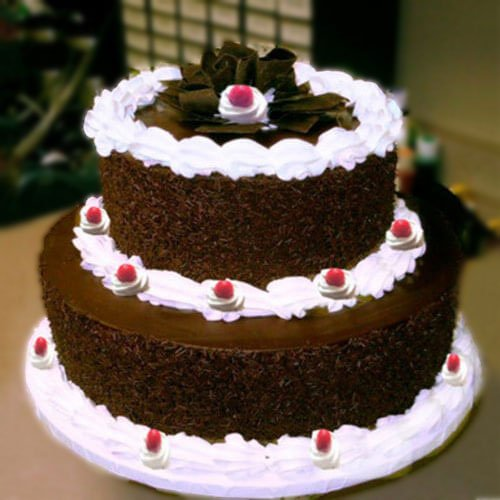 Two Tier Black Forest Cake