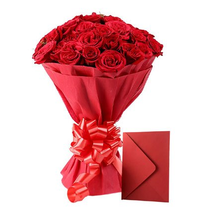 Best Rose Bouquet with Card