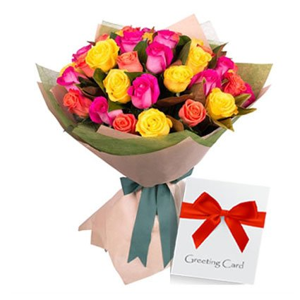 Birthday Message with Flowers