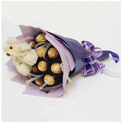 Chocolate Bouquets with Teddy