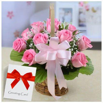 Message in Pink Basket