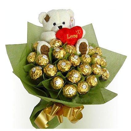 Teddy Wish with Chocolates